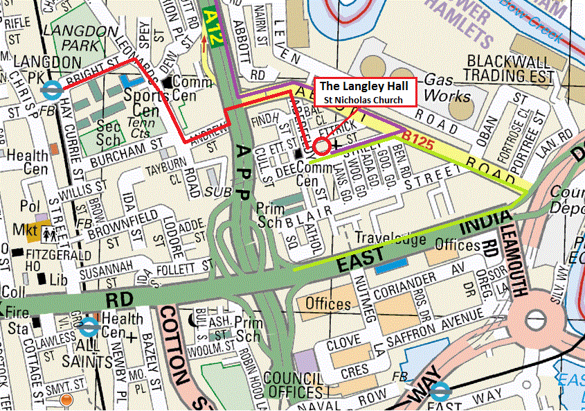Langley Hall Map